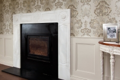 The Parnell marble fireplace made by Ryan and Smith