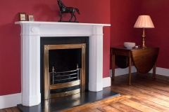 The Penrose marble fireplace