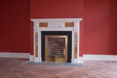 Original Georgian Sienna and Statuary marble chimneypiece