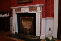 Irish 18th century brocattello and statuary marble fireplace