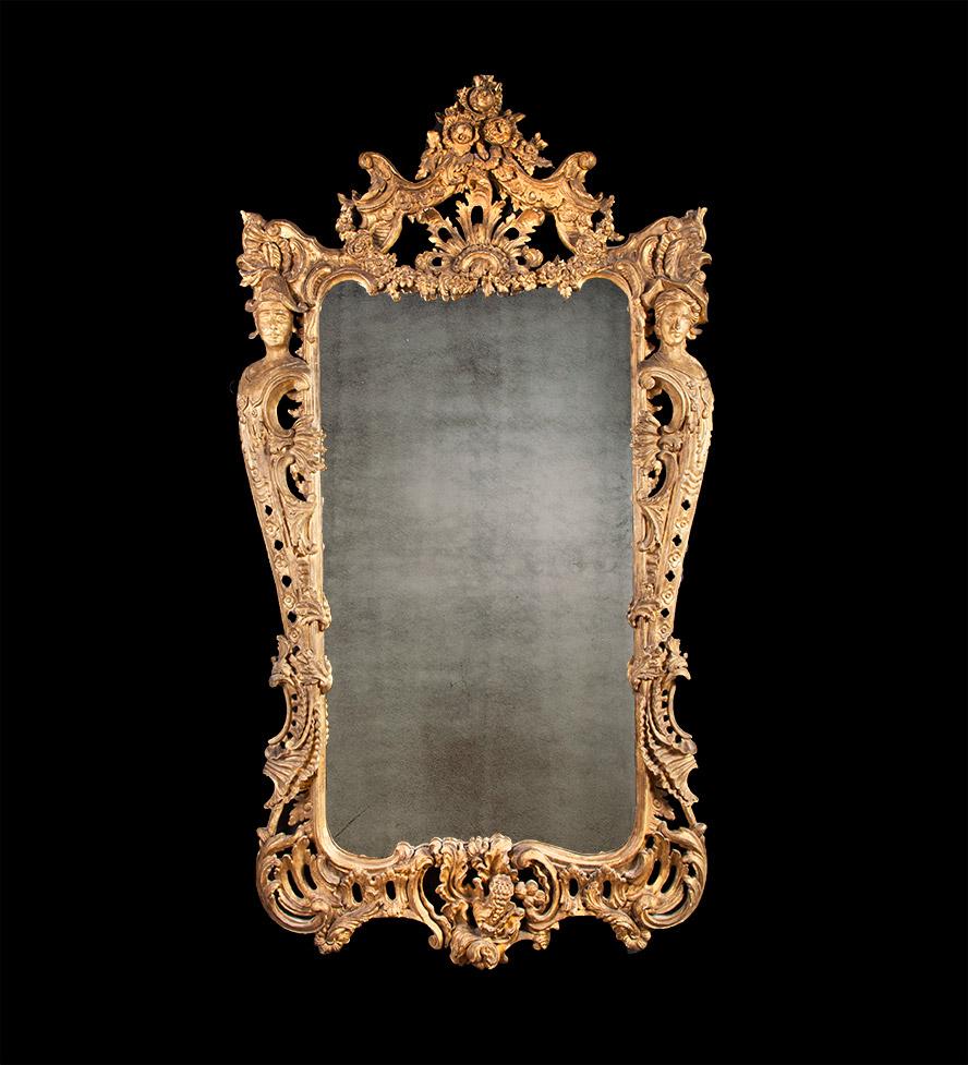 George II Carved Giltwood Pier Mirror – AF003