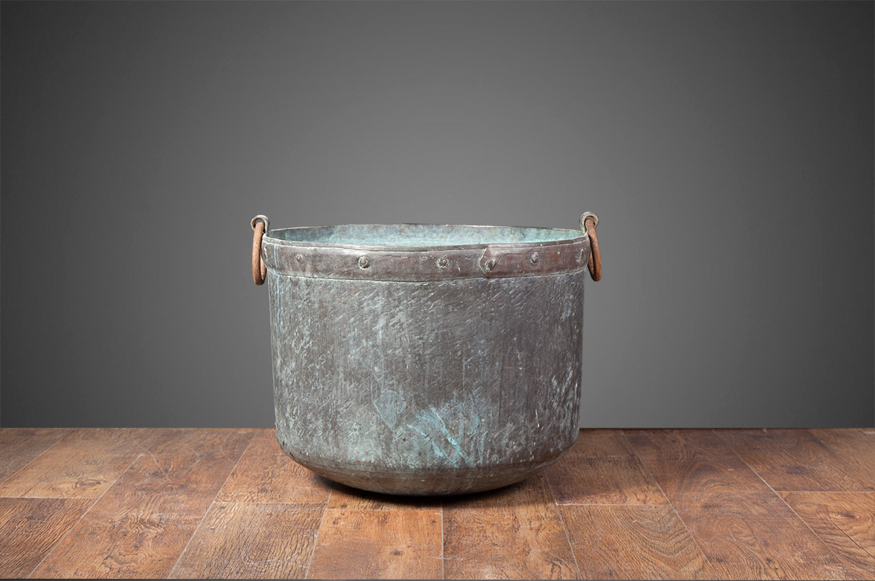 Antique Copper Fuel Bucket – AB006