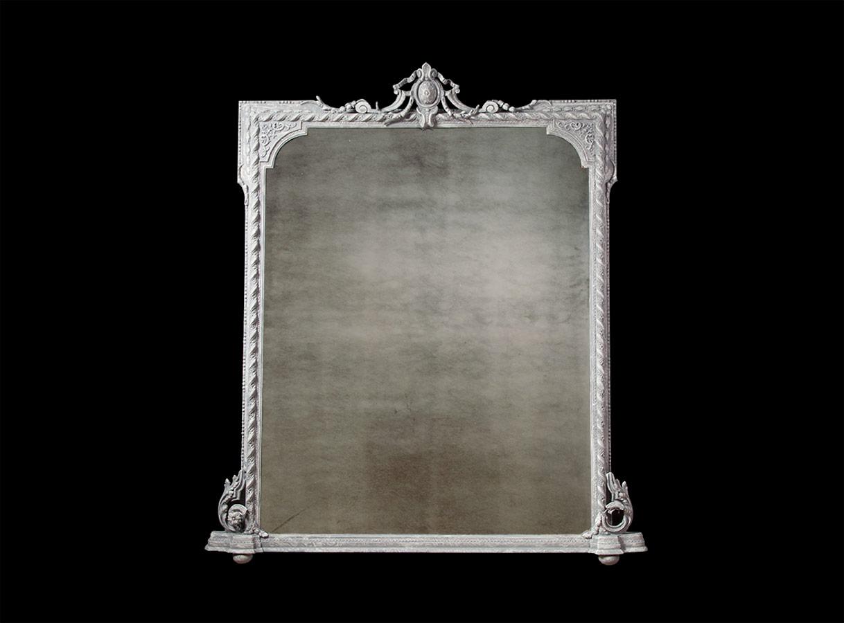 Antique Over Mantle Mirror – AF014 SOLD