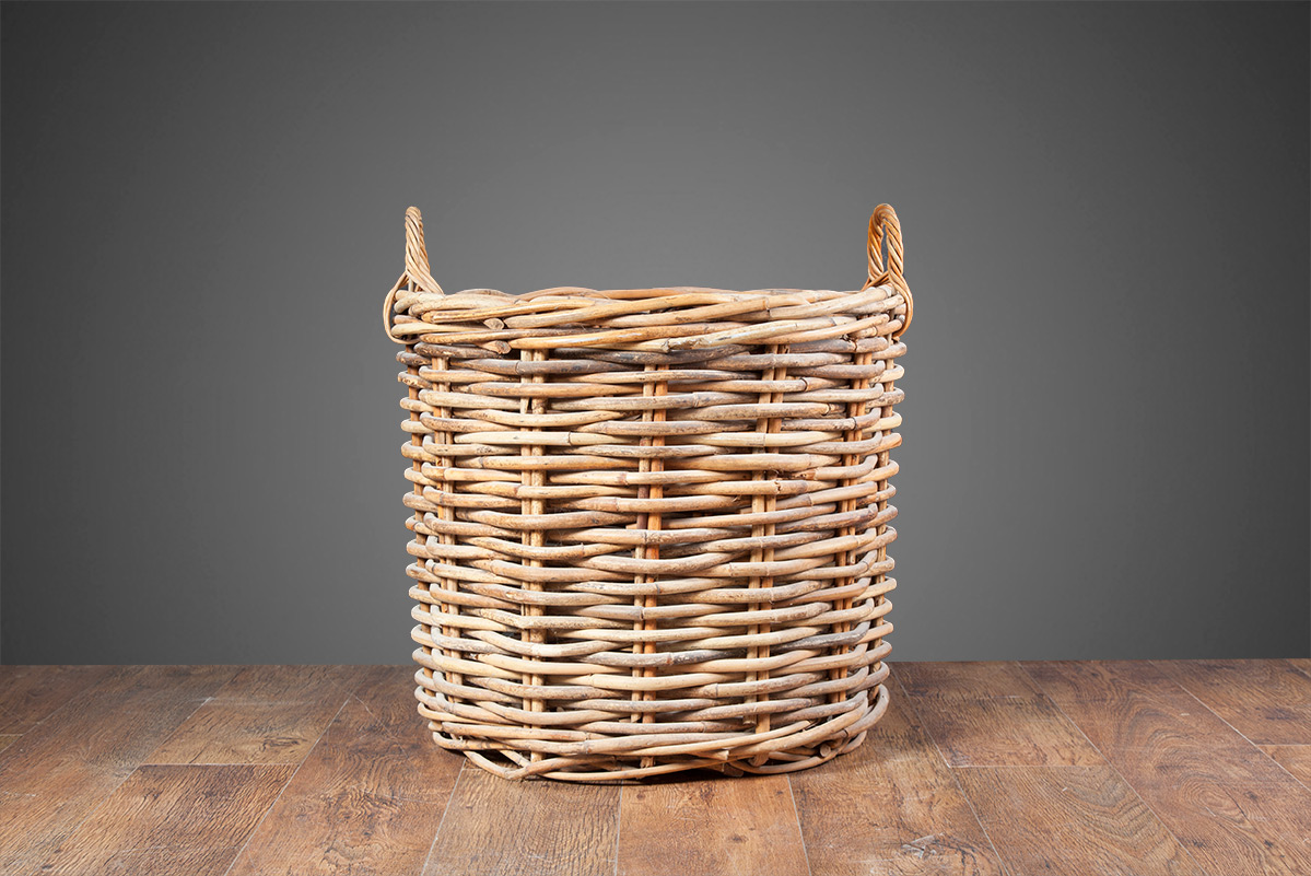 Wicker Log Basket  – LB001