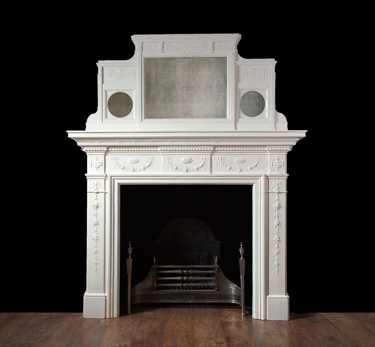 Painted Antique Cast Iron Fireplace – Ci137