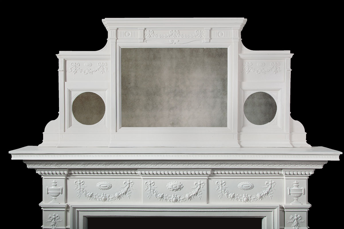 Painted Cast Iron Fireplace