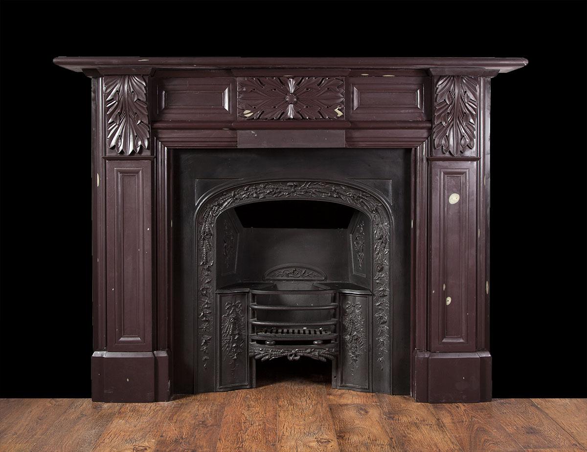 Carved Antique Welsh Heather Slate Fireplace – SL021