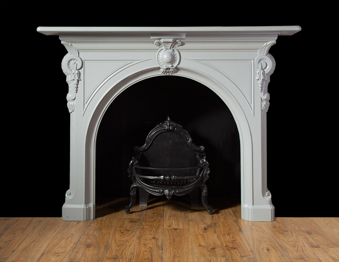 Painted Cast Iron Fireplace – Ci152