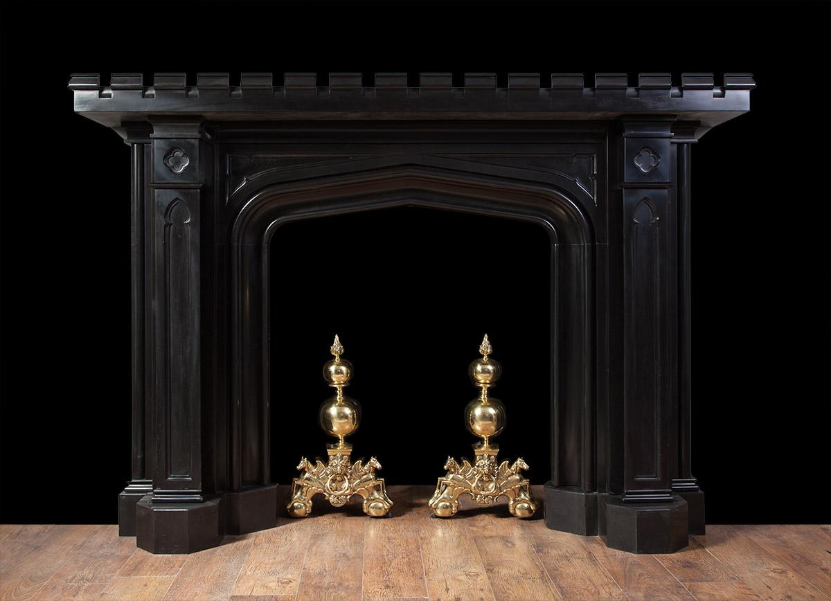 Gothic Marble Mantelpiece – 19207