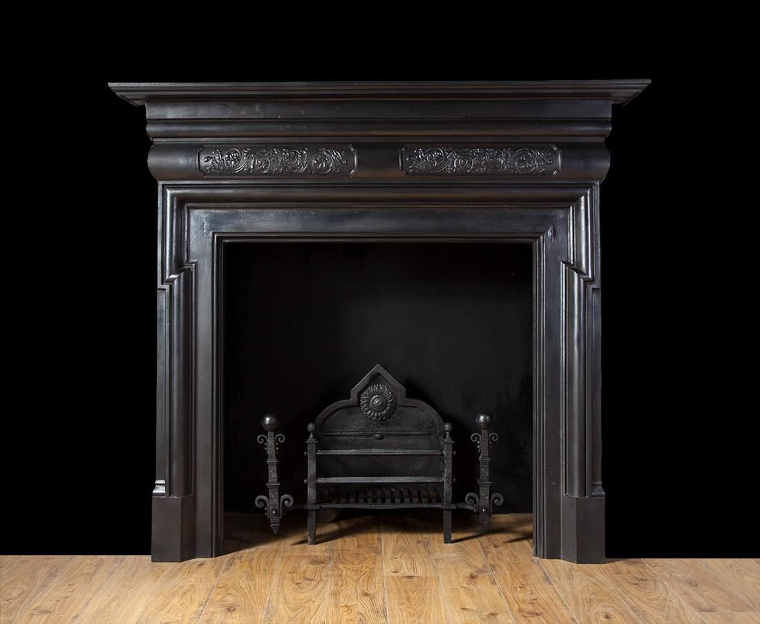 Antique cast iron fireplace – Ci158