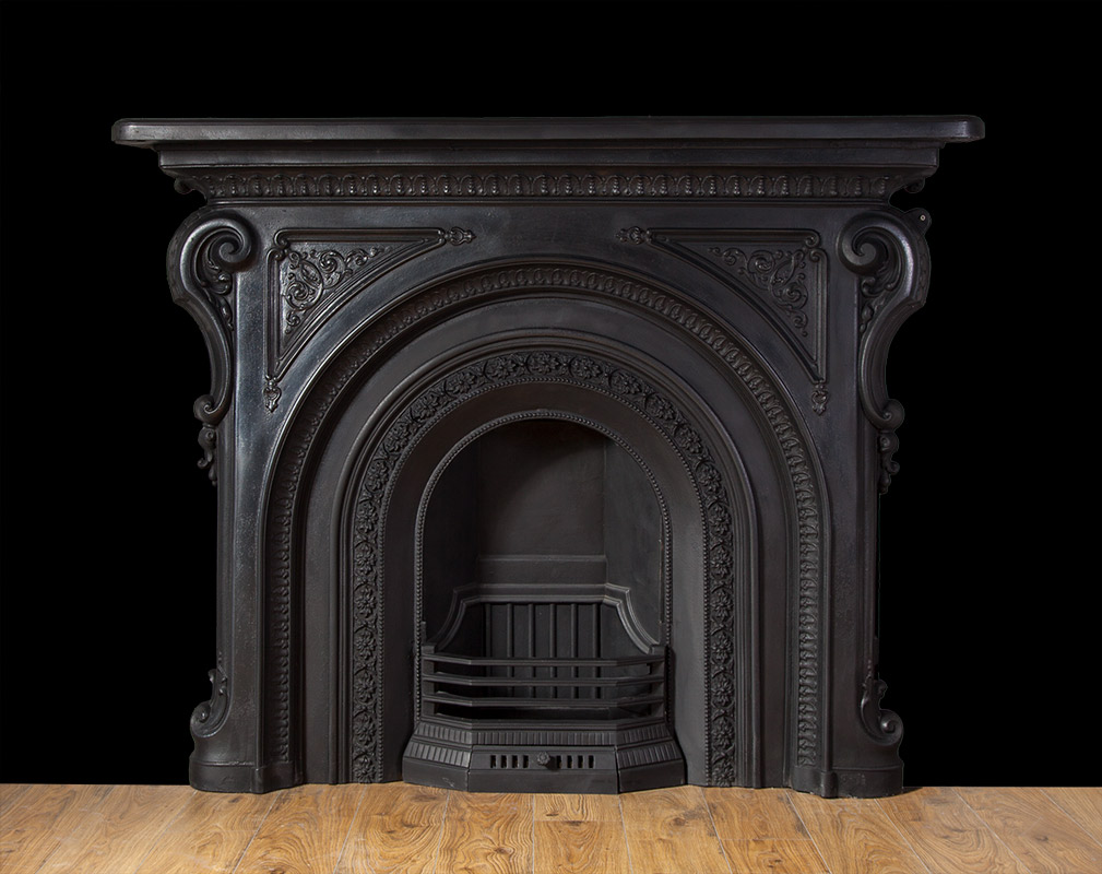 Antique Cast Iron Fireplace – Ci160