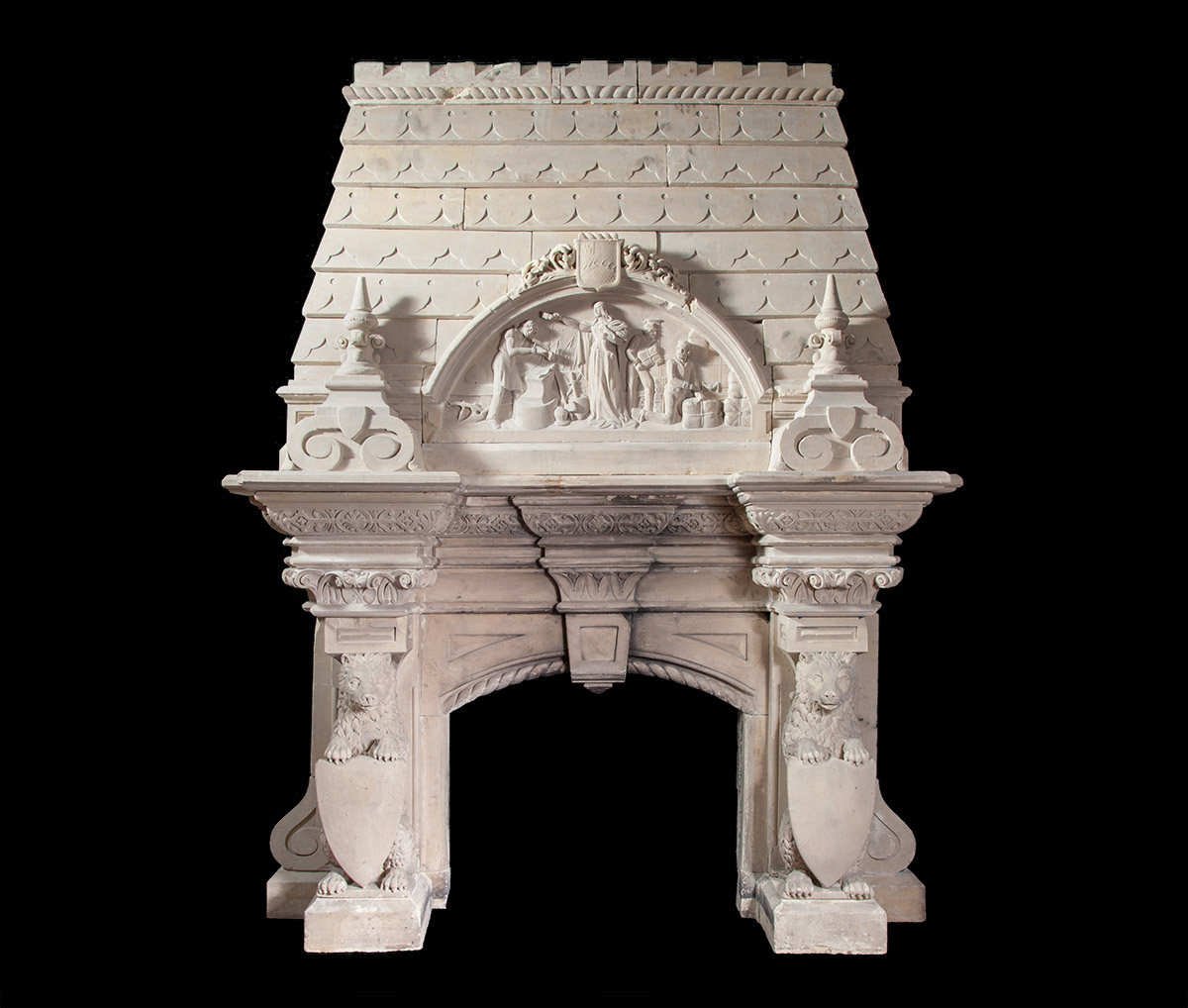 Antique Stone Fireplace – ST019