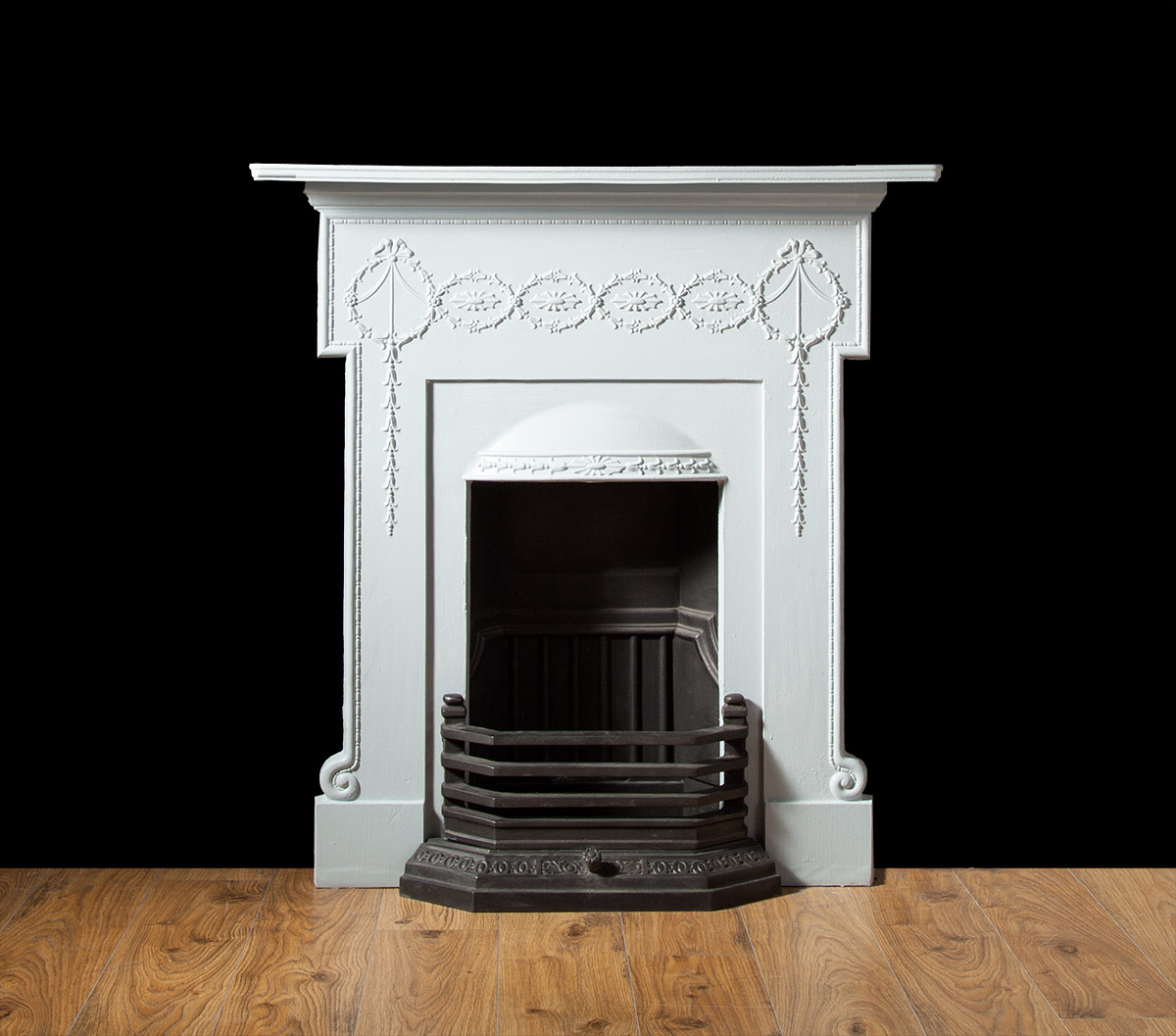 Antique Cast Iron Fireplace – Ci163