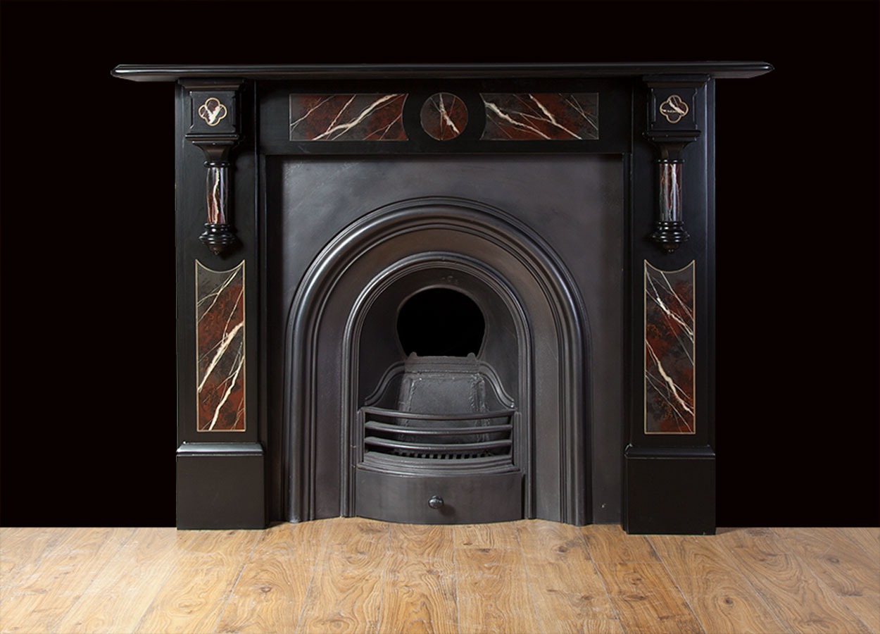 Antique Slate Fireplace – SL033
