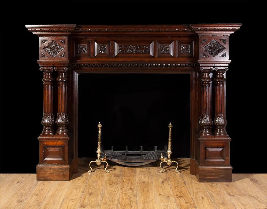 Wooden Mantel – W089