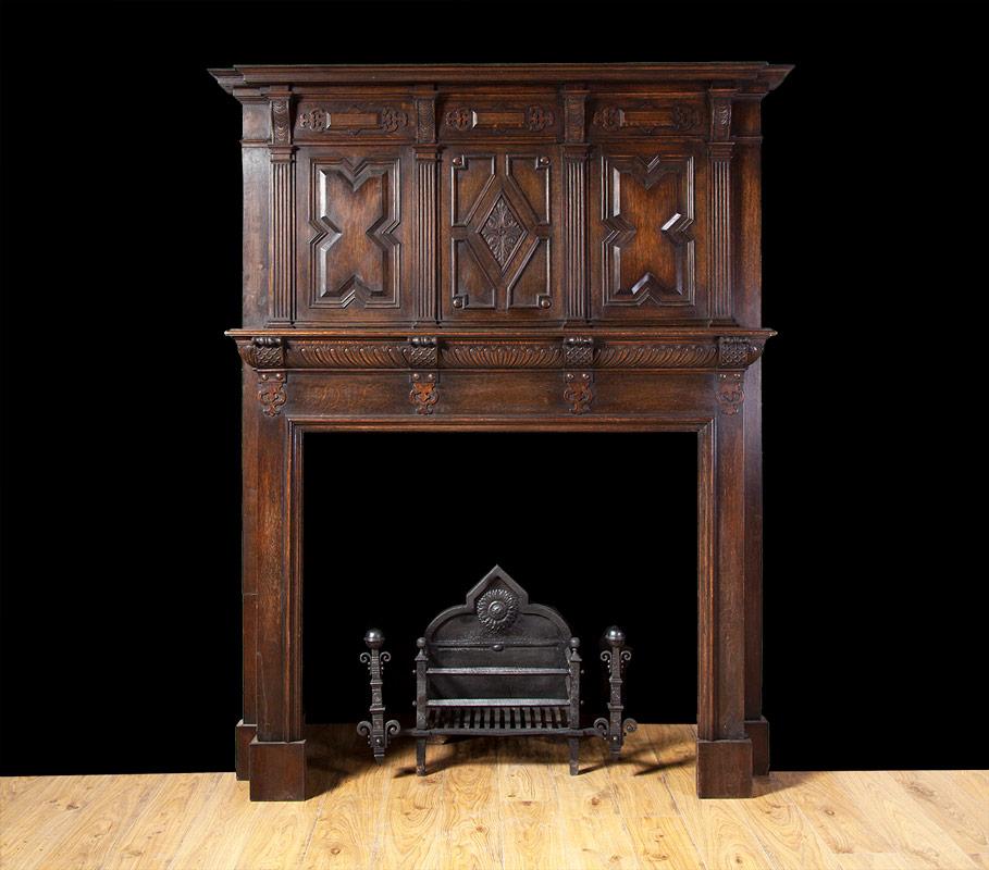Jacobean Oak Mantelpiece – W090