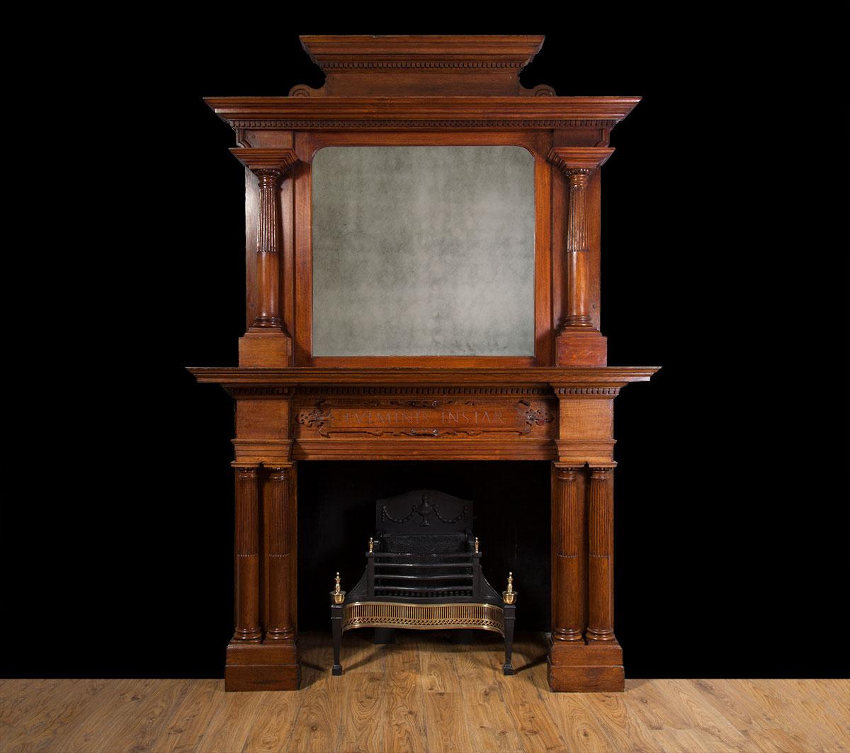 Wooden Fireplace – W097