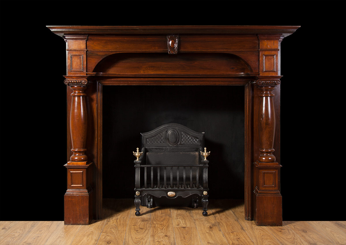 Wooden fireplace – W098