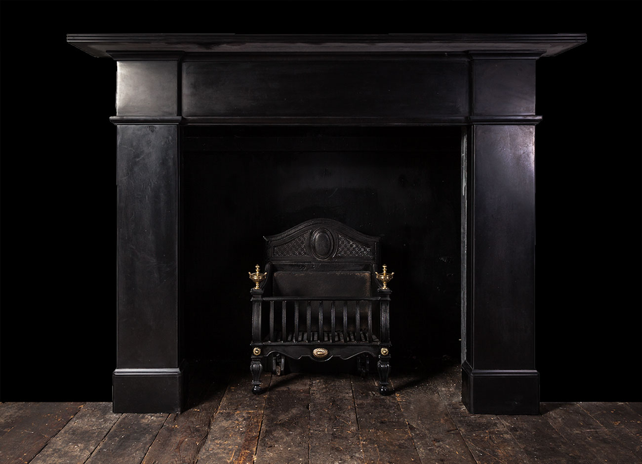 Black Marble Fireplace 19235 19th Century 19th Century Marble