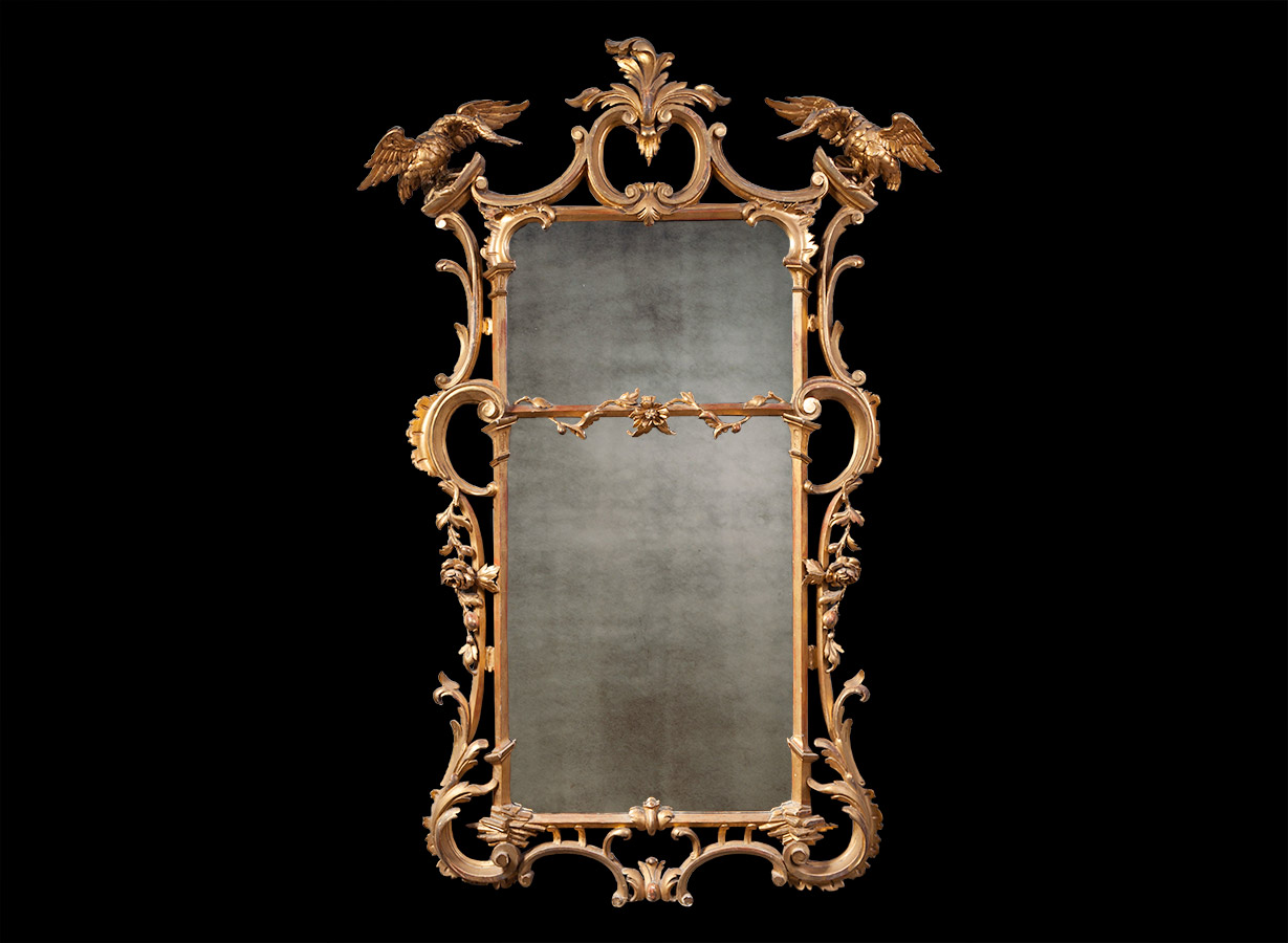 Antique Gilt Mirror – AF038