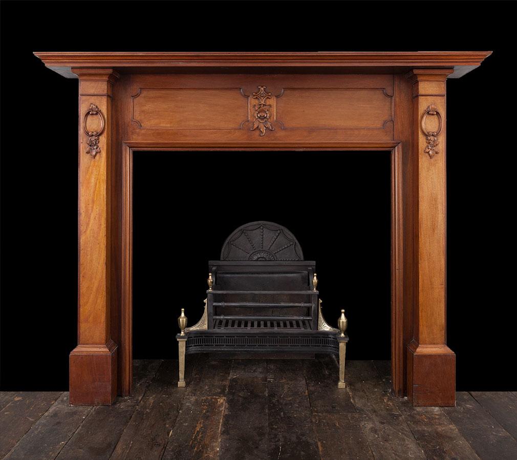 Wooded Mantel – W104
