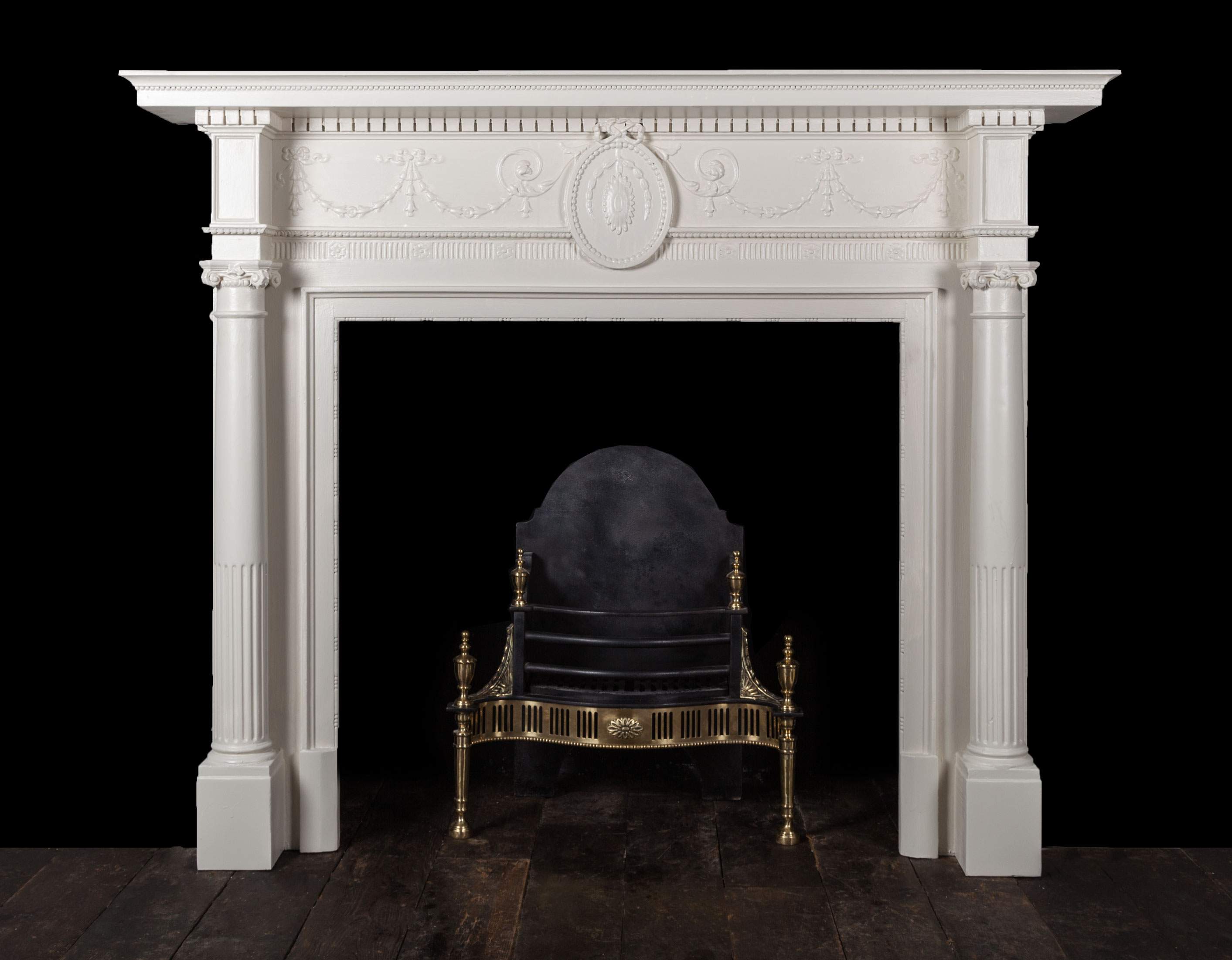 Painted Fireplace – W107