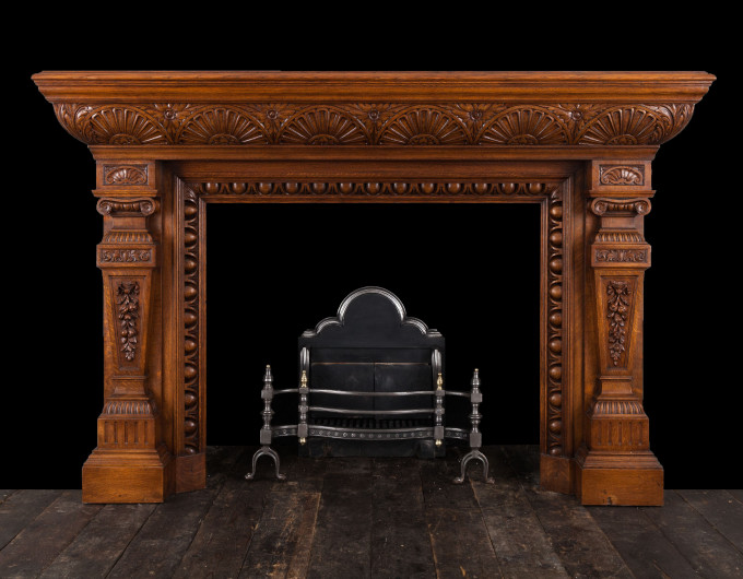 Victorian Wooden Mantelpiece
