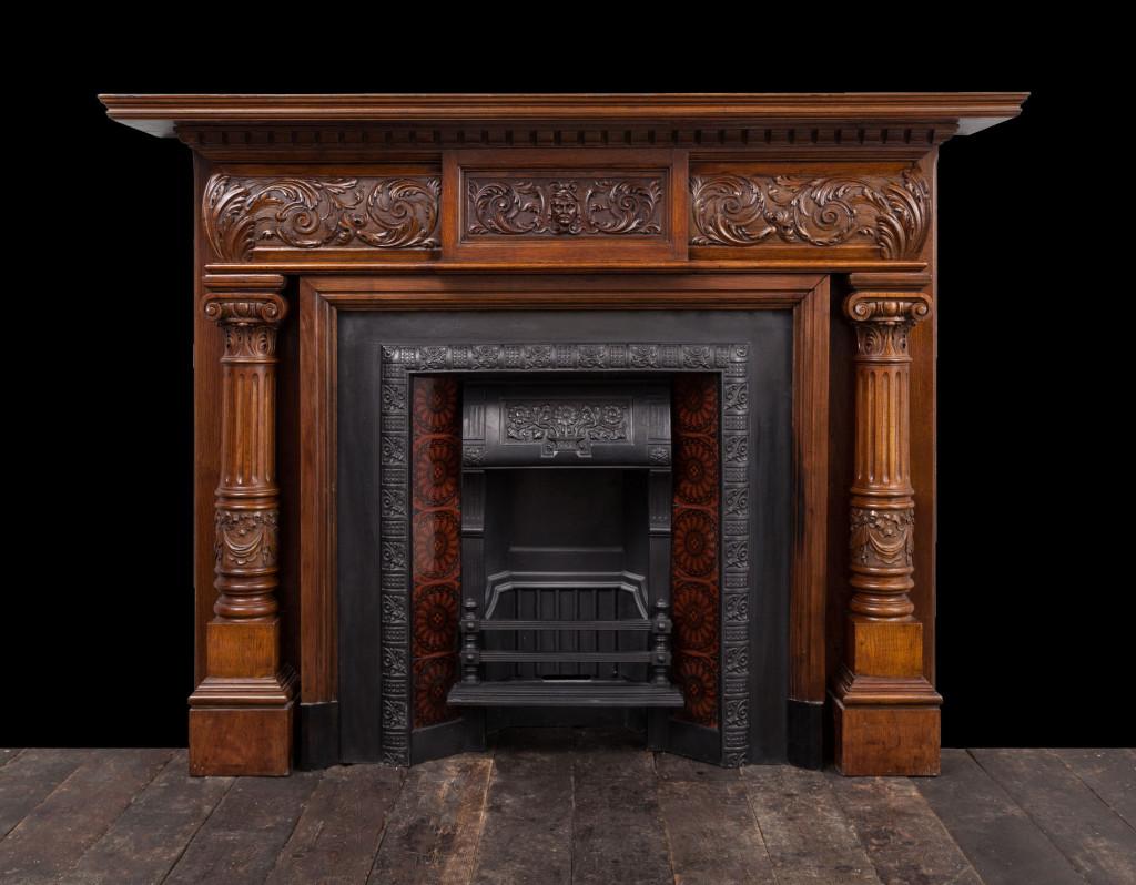 Walnut Fireplace W110 19th Century Antique Fireplaces