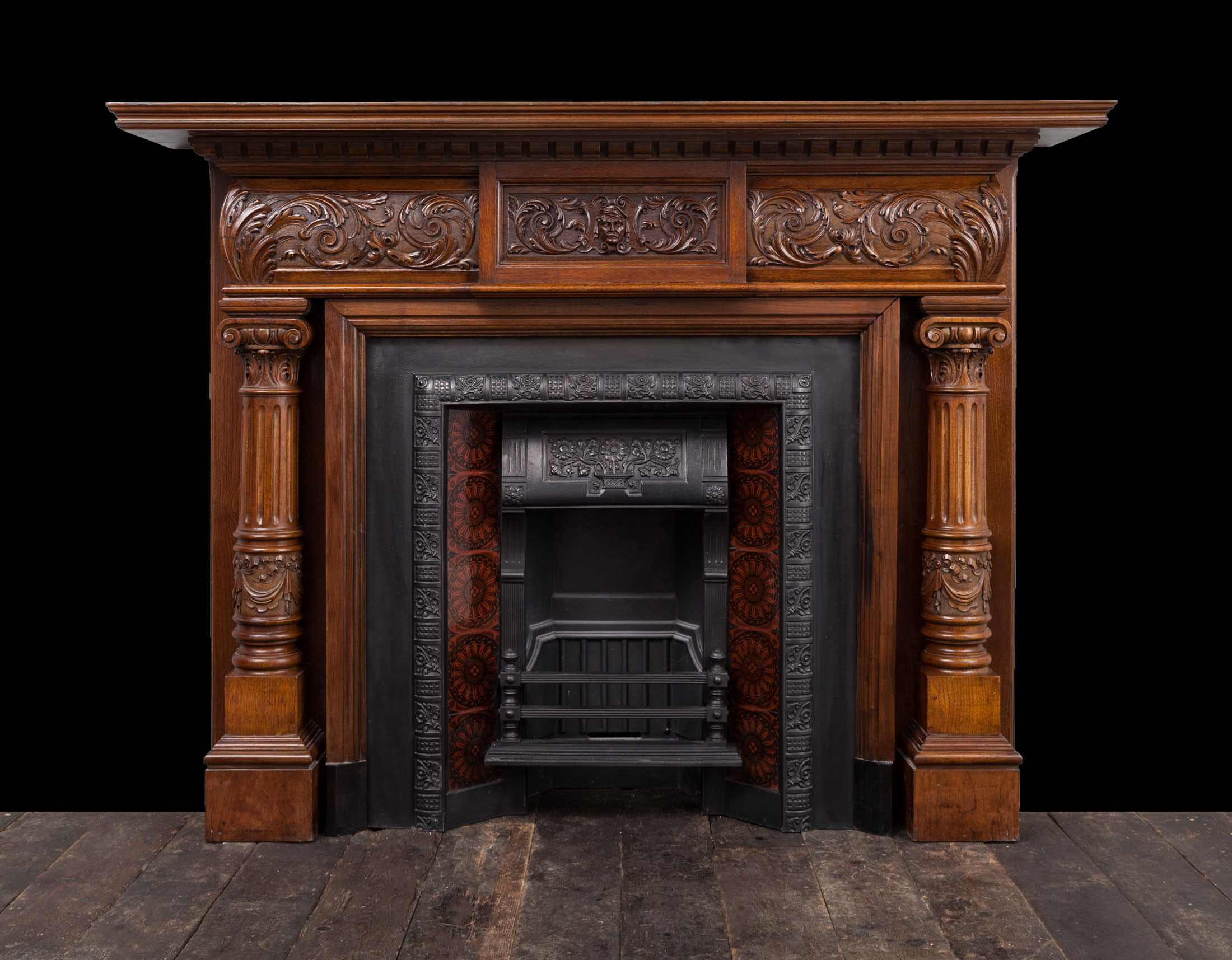 Walnut Fireplace – W110