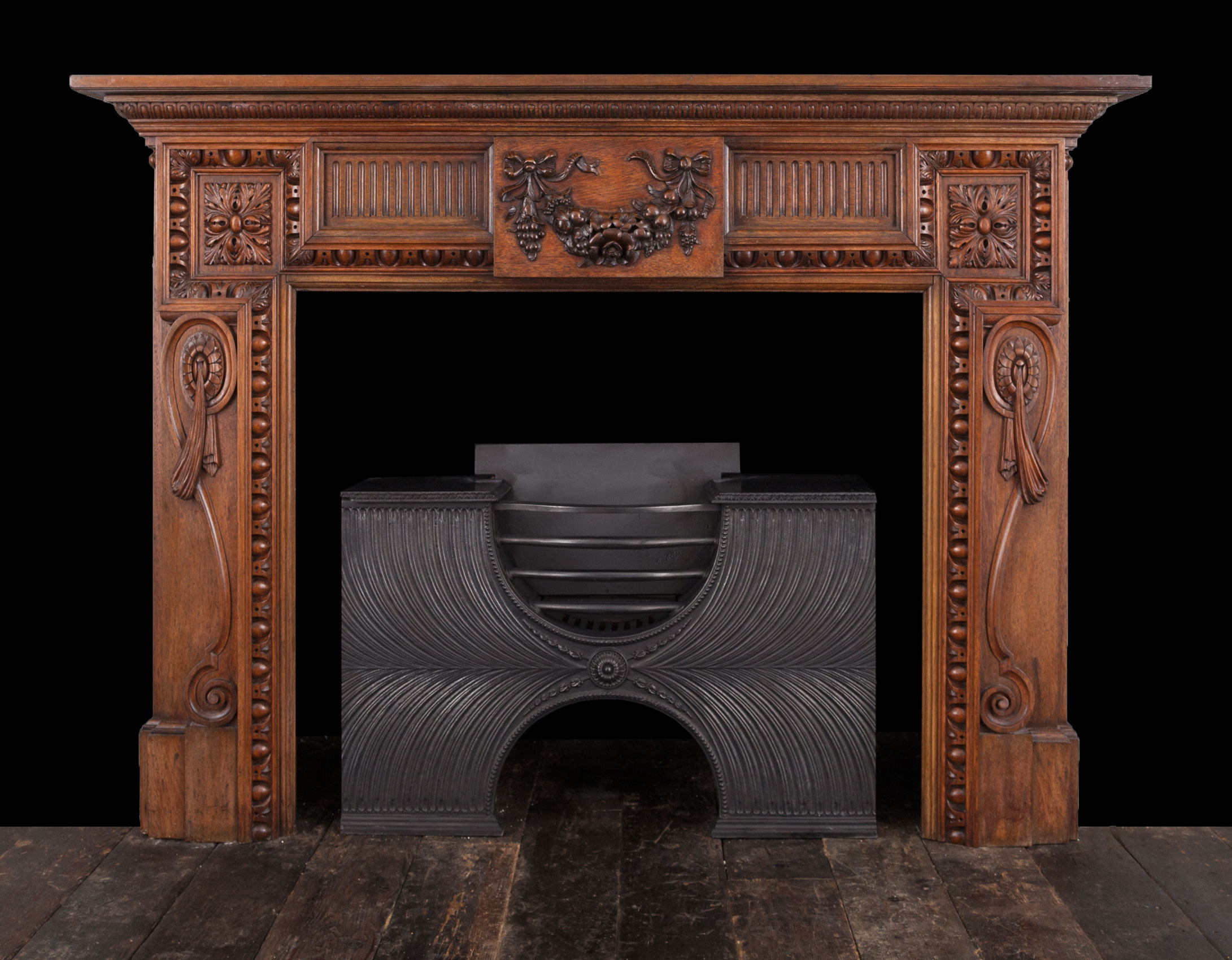 Walnut Fireplace – W111