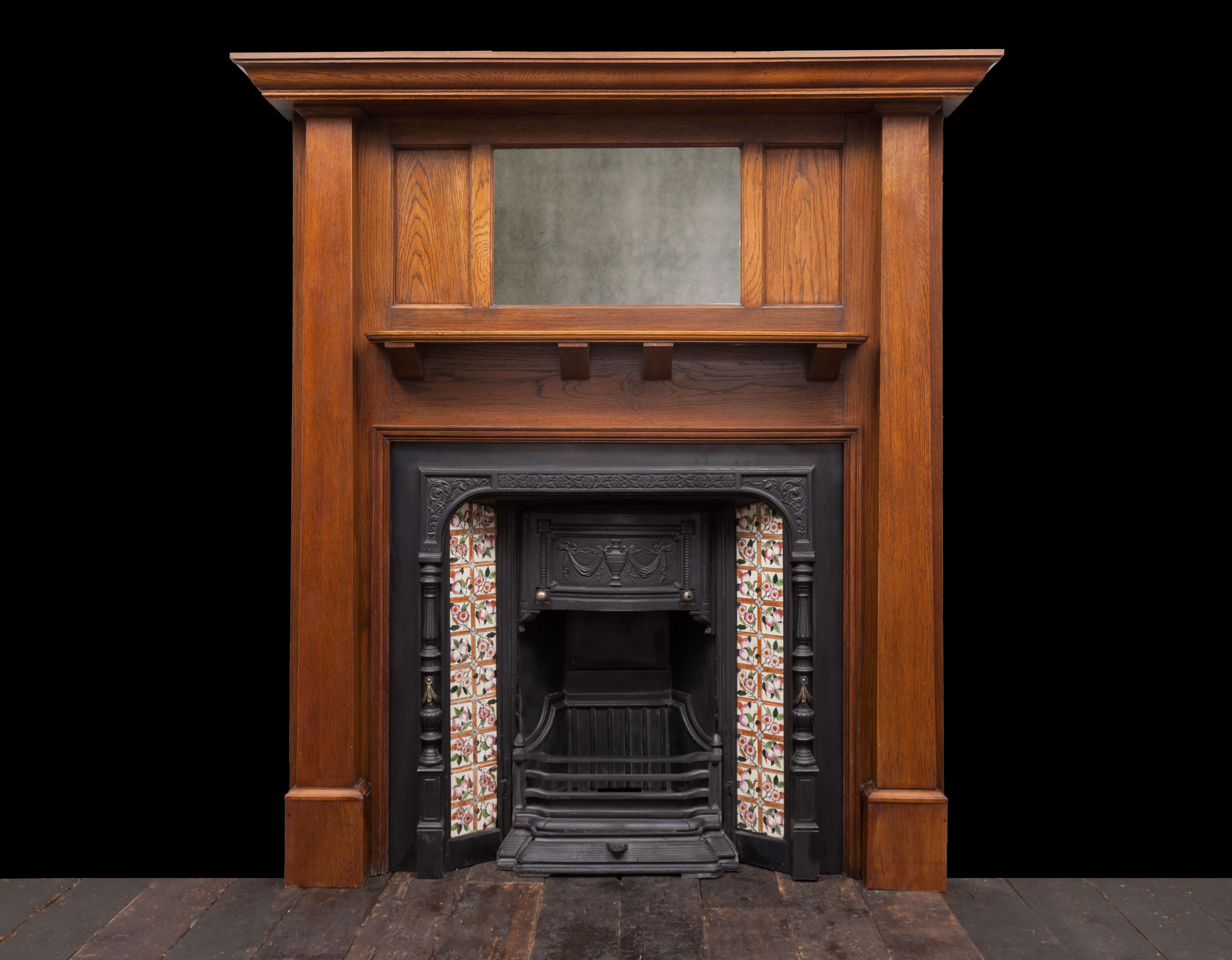 Wooden fireplace – W113