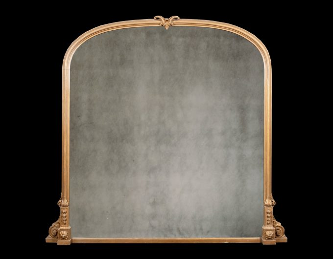 antique gilt-wood over mantel mirror