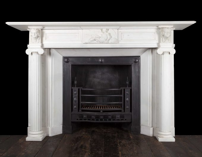 Irish Carrara marble mantelpiece