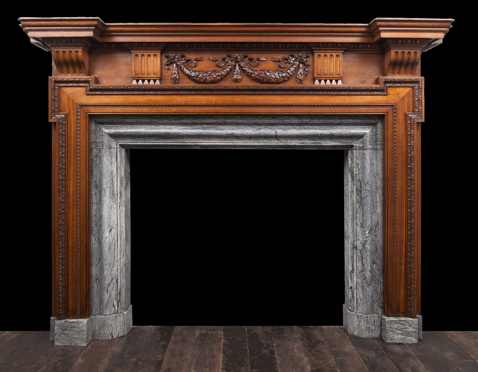 Wooden Fireplace – W119