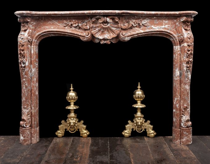 Antique Louis XV marble mantel