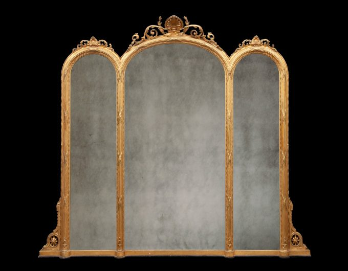 antique over mantel mirror