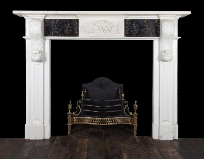 Antique corbel fireplace