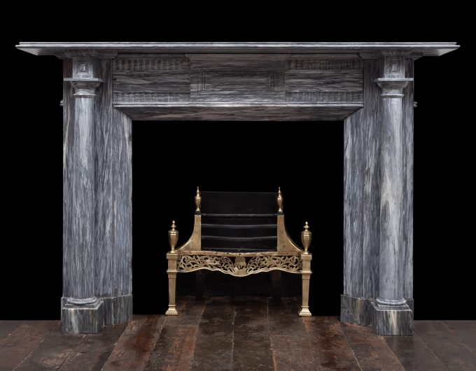 Bardiglio marble fireplace