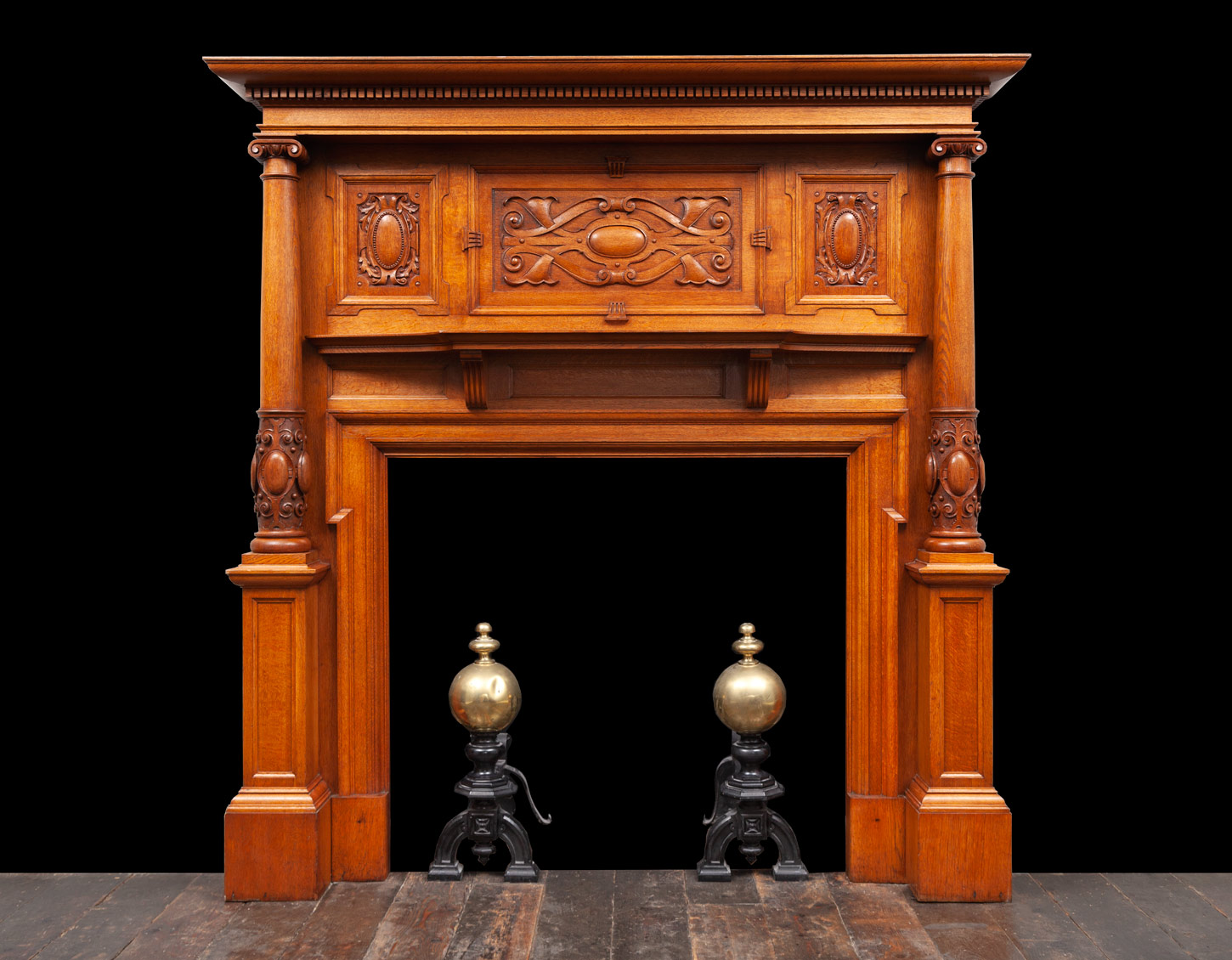 Oak Fireplace – W134