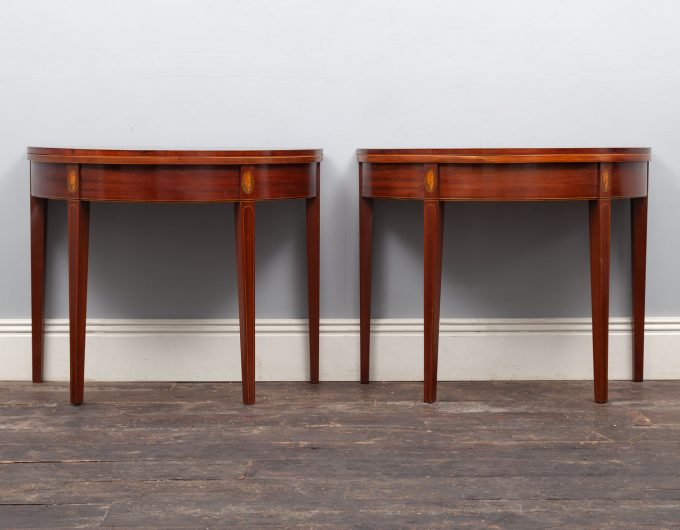 Pair antique tables