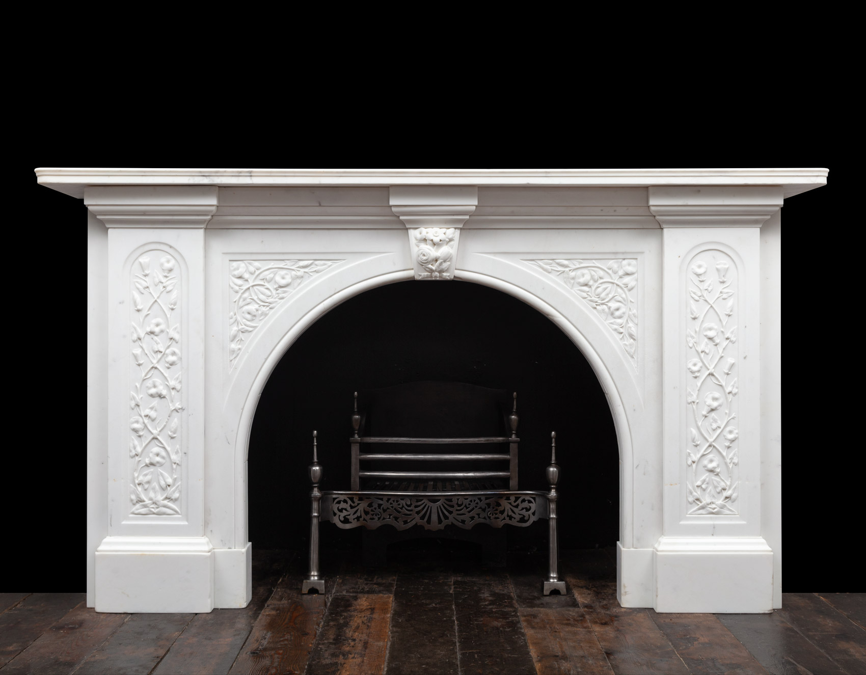 Carved Marble Mantel – 19395