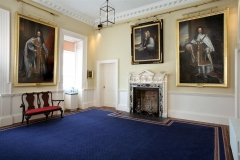 Bishop's Palace Waterford painted pine chimneypiece