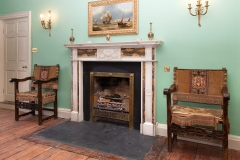 Georgian style Sienna and Statuary marble fireplace