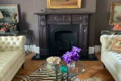 Antique slate fireplace