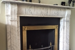 Antique Regency Carrara marble fireplace