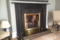 Kilkenny marble fireplace with period brass registor grate