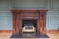 carved oak fireplace
