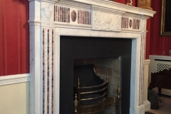 Antique statuary and Blue John chimneypiece
