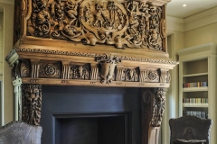 Antique French fireplace