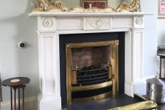 Statuary marble fireplace